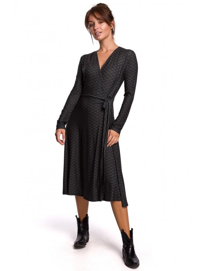 B183 Zavinovacie šaty v modernom tlači - model EÚ XL model1