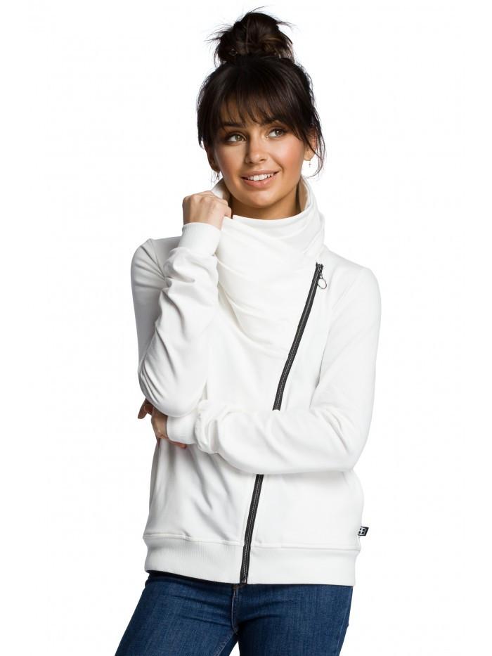 B071 Zipped sweatshirt EÚ M ecru