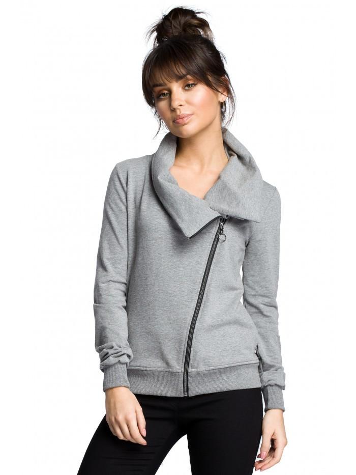 B071 Zipped sweatshirt EÚ L šedá
