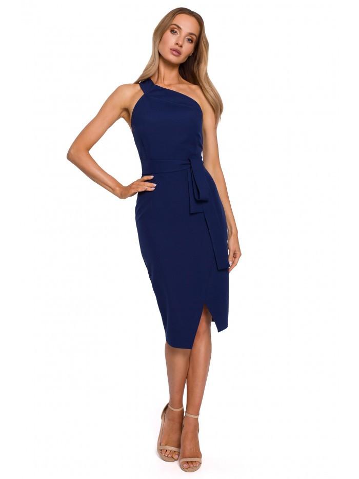 M572 Single Strap Dress EÚ S. námornícka modrá