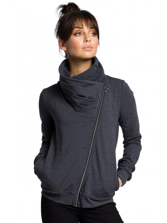 B071 Zipped sweatshirt EÚ L grafit