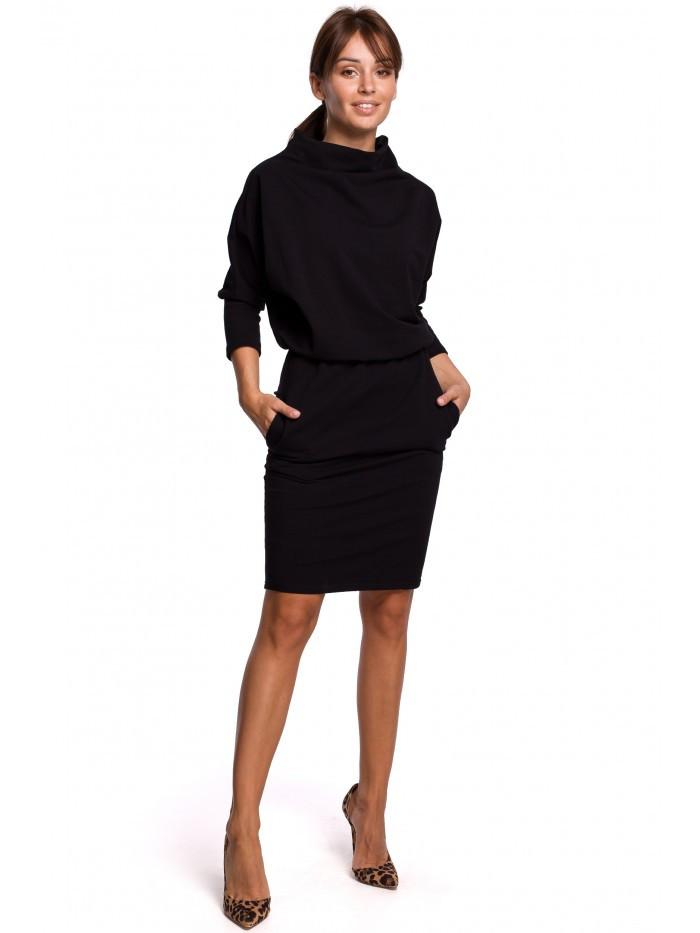 Dámske úpletové šaty B175 EU S / M čierna
