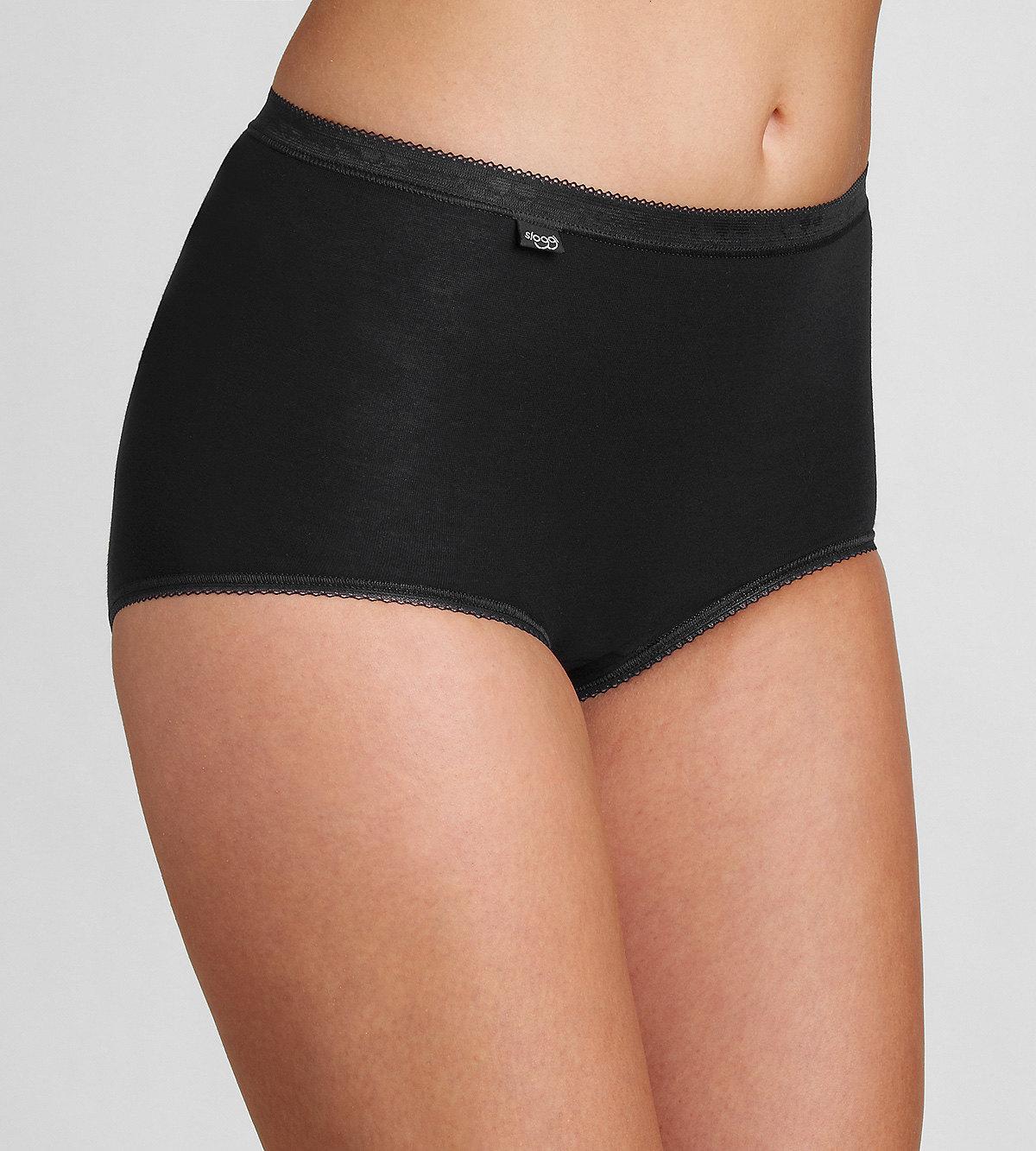 Kalhotky Sloggi Basic+ Maxi 2P černá Velikost do filtru: 38, Barva Triumph: černá (0004)