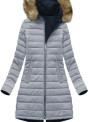 Modro-šedá dámská zimní bunda oboustranná (W212BIG)