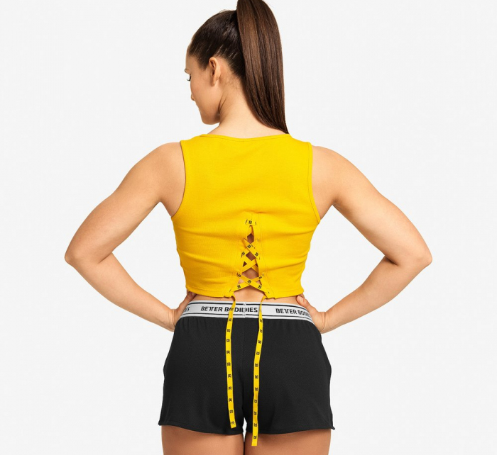 Better Bodies Crop-top Astoria Yellow